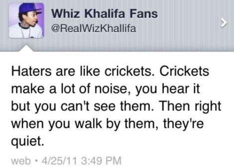 Wiz Khalifa's Thoughts on Haters